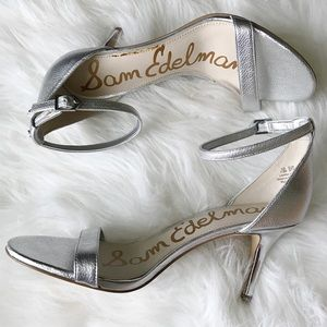 NEW Sam Edelman silver stiletto heels Sz 7.5